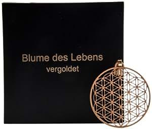 Berk P-224-G Bijou symbolique Fleur de vie Plaqué or 24 carats