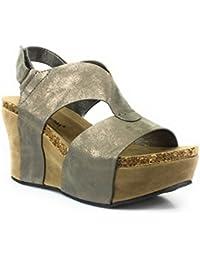 7adeabb83f4 Pierre Dumas Women s Hester-6 Wedge Sandal