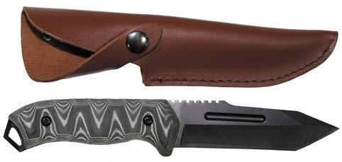 Preisvergleich Produktbild Max Fuchs Messer, Lederscheide, mit Schichtkunststoff Griff