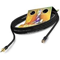 SOMMER CABLE SC Goblin Verlängerung- Adapterkabel Mini-Klinke Stecker auf Buchse 3,5mm HICON | HI-J35-Screw-M (2,5m, schwarz)
