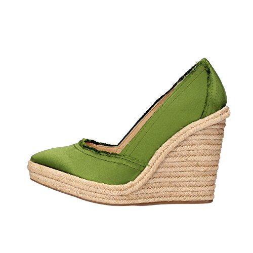 PEDRO GARCIA decolte donna verde / grigio raso (40 EU, Verde)