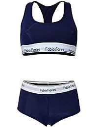 Fabio Farini set soutien-gorge de sport bralette racerback et culotte