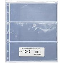 Pardo 134300 - Pack 10 fundas billetes universales, 3 departamentos