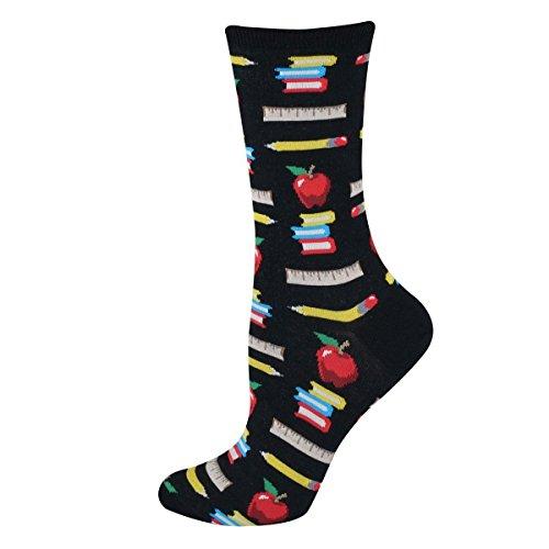 Hot Sox Women's Originals Teacher'S Pet Crew Trouser Socks