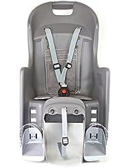 Polisport Boodie Kindersitz Fahrrad, Grau/Silber, M