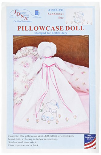 Stamped White Pillowcase Doll Kit-Sunbonnet Sue -