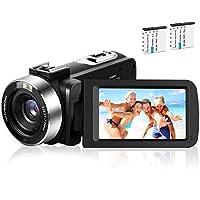 كاميرا فيديو كاميرا، كاميرا الفيديو الرقمية، Kmashi لـ YouTube Full HD 1080P 30FPS 30.0MP 18X Digital Zoom مع بطاريتين وجهاز تحكم عن بعد