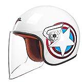 NJ Helm- Elektrische Motorrad Helm Moped Kind Halbe Helm Männer Und Frauen Baby Helm Kinder Vier Jahreszeiten Universale (Farbe : D, größe : L26*H23cm)