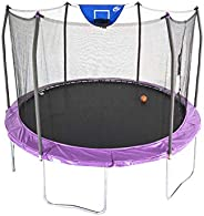 Skywalker Unisex Child Jump N Dunk w/ Basketball Hoop, Round Trampoline - 12 foot