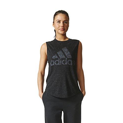 Adidas Damen Leichtathletik Graphic Drop Saum Muscle Tee, damen, F1754WID411, Schwarz , M