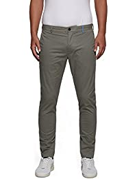 Replay Men's Gabardine Men's Grey Trousers Cotton