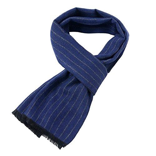 Aronvivi Herren Schal Gr. onesize, stripe navy blue (Schal Stripe Reversible)