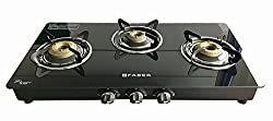 Faber Cooktop / Gas Stove Splendor-3BB BK Black Toughened Glass