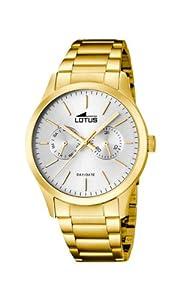 Lotus 15955/1 - Reloj de cuarzo para hombre, con correa de acero inoxidable, color dorado