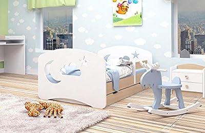 Cama infantil Cama para niños Cama individual para junior con colchón y cajón - Clásico | Perfecto para niños y niñas | Pinturas ecológicas utilizadas | Máxima seguridad | ¡Hasta 120 KG!