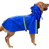 Morezi Outdoor Pet Dog RainCoat, Adjustable Waterproof Pet Dog Coat Windproof Safety Raincoat Breathable Rainwear clothes for Puppies Small Medium Large Dogs - Blue - XXL