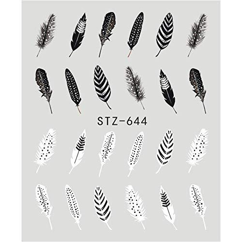 Huydld adesivo per unghie 1 pz black flower nail sticker acqua decalcomanie hollow tattoo flora ali stencil per nail art decorazione cursori manicure stz644