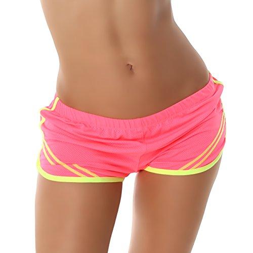 Voyelles -  Pantaloncini sportivi  - Donna Pink