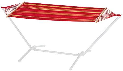 FLORABEST® Hängematte mit stabilem Metallgestell, rot