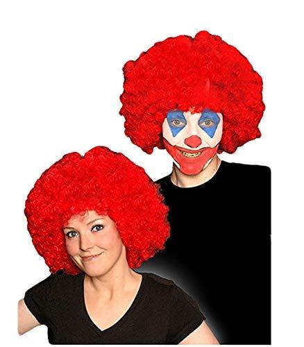 Childrens Kids Boys Girls Red Curly Afro Wig Clown Halloween Fancy Dress