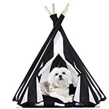 ZMMAMascota Tienda casa de Perro de Madera removible Peluche Mascotas,Casita en el árbol