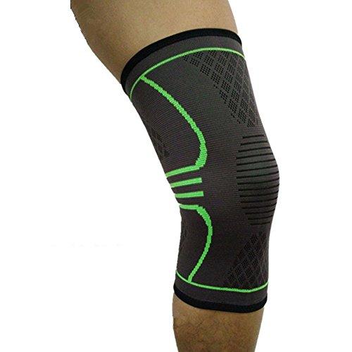 Knieschoner Elastische atmungsaktiv Kompression Kniebandage Sleeve für mehr Stabilität beim Sport und im Alltag, wirkt schmerzlindernd bei Gelenkkrankheiten wie Arthrose, Schützt beim Laufen und Joggen, für Damen und Herren, Single Test
