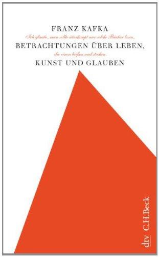 Buchseite und Rezensionen zu 'Betrachtungen über Leben, Kunst und Glauben' von Franz Kafka