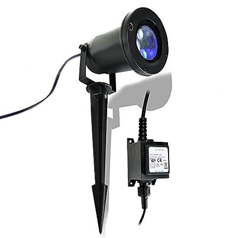 X4-LIFE Outdoor LED Strahler Schneeflocke 701389
