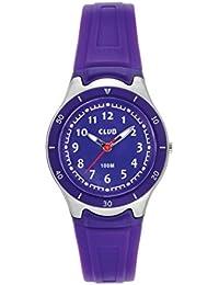 Montre Garçons Filles Club  - Affichage  bracelet Silicone Violet et Cadran Violet A14105S8A