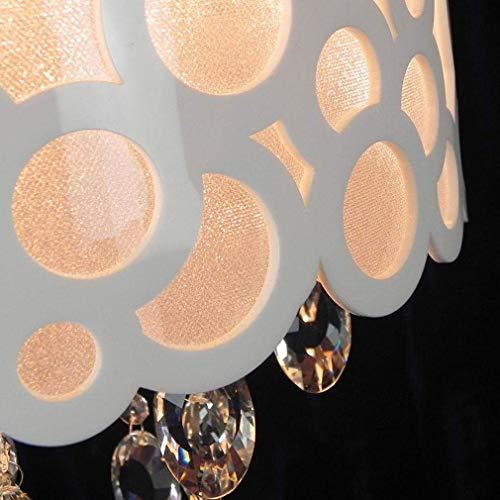 4 Light-anhänger Käfig (W-LI Kristall Deckenleuchte Moderner Stil Anhänger Kronleuchter Runde 4-Lights Deckenleuchte Schlafraum Esszimmer Esszimmer Einfache Deckenbeleuchtung 40Cm E14 Max.60W , Weiß)