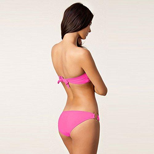 Pinkyee Damen Bikini-Set Rosa - Pfirsischfarben