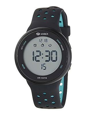 Reloj Marea Digital Hombre B44098/7 Correa Silicona Negro y Turquesa