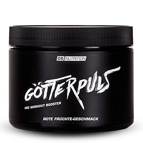 Pre Workout Booster Götterpuls – OS NUTRITION Rote Früchte 308g – made in Germany