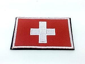 Swiss Suisse Drapeau Brodé Airsoft Patch