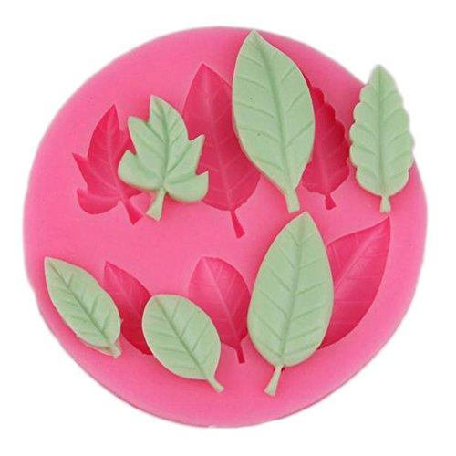 ätter Silikon Kuchen Formen Muffin Cookie Mould Schokolade handgemachte Seife Eis Zucker Handwerk Backen Bakeware DIY 3D Plätzchen Schimmel Bakeware formen Tool - Rosa ()