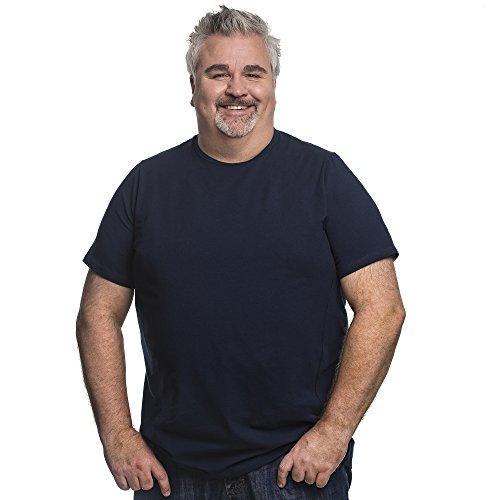 7XL T-Shirt für Männer mit Übergröße Bauchumfang Herren Rundhals Basic Tshirt Übergrößen. 7XL-B (für Bauchumfang 162-169 cm) Blau