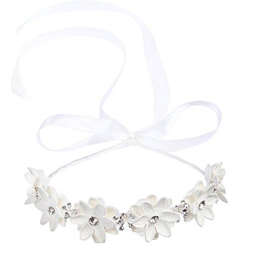 Kristall Strass Perlen Kranz Stirnbänder Blumenmädchen Haarschmuck Hochzeit