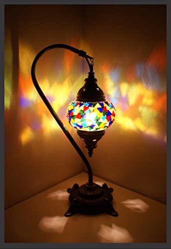 mosaico lámpara mosaico–Pie S lámpara de mesa de proyección Turco orientales Multicolor Samarkand de Lights