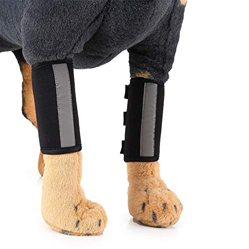 Schwarze Kostüm Legging - Yeslln Haustier Kostüm Hundekleider Hund Kostüm Luminous Kneepad Dog Leggings OP-Cover, schwarz_L