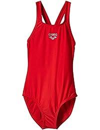 Arena Badeanzug Maltosys - Body de competición para niña, color rojo, talla 128 cm