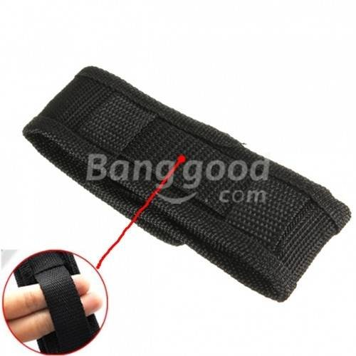bazaar-nylon-durable-torche-etui-sac-pochette-noire