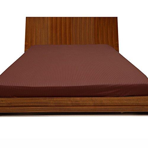 500TC Georgeous 1Spannbetttuch Streifen (Pocket Größe: 27,9cm), baumwolle, Brick Red Stripe, Euro_Double_IKEA