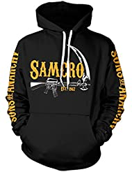King of Merch – Sudadera con capucha – Sons of Anarchy SAMCRO est. 1967 Calavera SOA Plato Morrow Jax Opie MC Moto Club Redwood Originals TIG chibs Hells Angels Tara Knowles