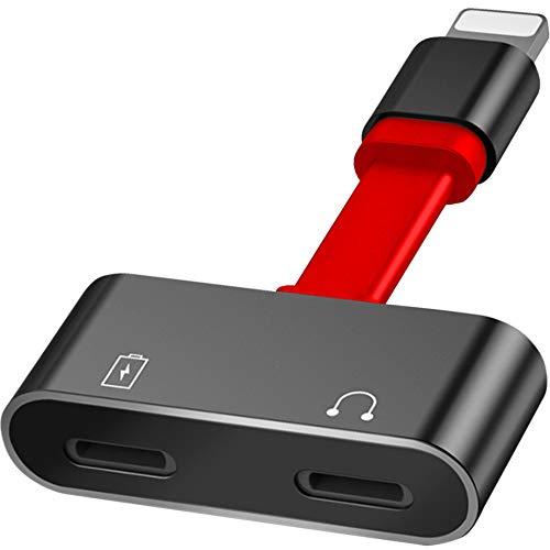 Unitek Adapter für Kopfhörer/ 2X Lightning/Doppel Audio Lade Splitter für Apple iPhone, iPad, iPod/Unterstützung von iOS/Kopfhöreradapter, Ladeadapter/ M102A (Kopfhörer-adapter Ipod)