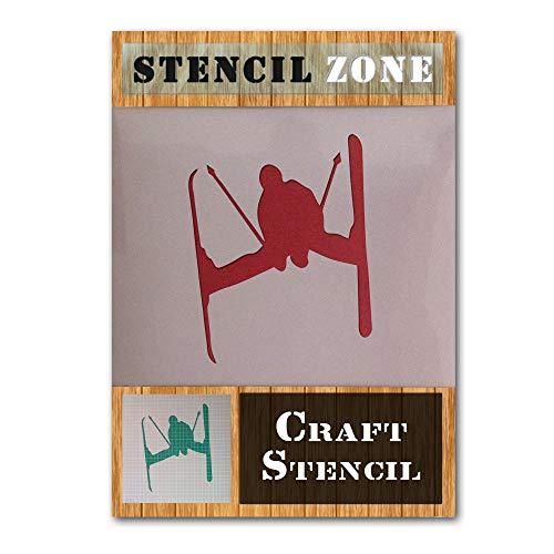 Schnee Skifahren Sport Winter Spiel Mylar Airbrush Painting Wall Art Crafts Stencil 1-XS (Crafts Arts Winter And)