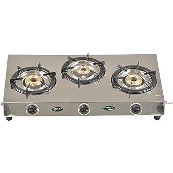 34e4bf30a Buy Surya Stainless Steel 3 Burner Gas Stove