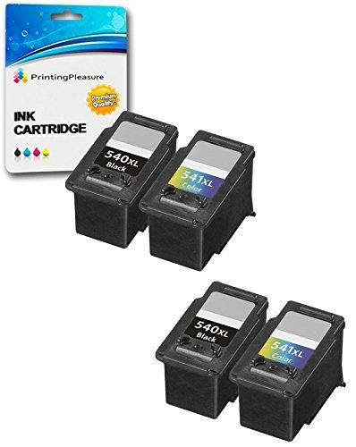 4 XL Compatibili PG-540XL CL-541XL Cartucce d'inchiostro per Canon Pixma MG2150 MG2250 MG3150 MG3250 MG3550 MG3650 MG4150 MG4250 MX375 MX395 MX435 MX455 MX475 MX515 MX525 - Nero/Colore, Alta Capacità