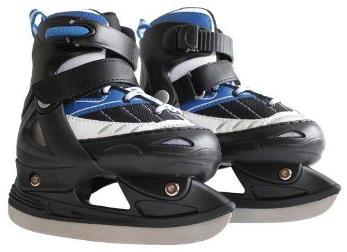 Ultrasport Pattini da Ghiaccio per Bambini - Regolabili Su Diversi Formati di Scarpe, con Protezione Lama e Custodia - Modello Omologato