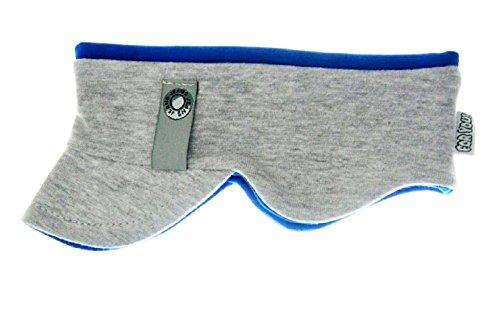 Stirnband Kinderstirnband Jungen stirnband Babystirnband mit Ohrenverbreiterung 4 Farben Baumwolle (40/42 .S, Grau/Blau)