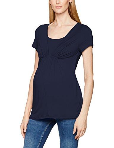 MAMALICIOUS Damen Umstands T-Shirt MLADDIE Nell S/S Jersey Top NF, Einfarbig, Gr. 38 (Herstellergröße: M), Blau (Navy Blazer Navy Blazer)